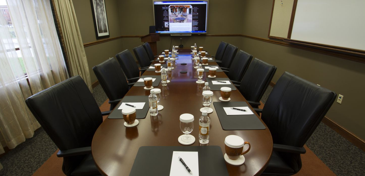 full meeting room with television